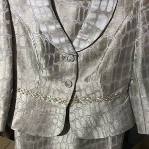 Kay Unger glam skirt suit